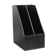 Лоток для документов из искусственной кожи лоток для файлов черный коричневый высококачественный офисный бизнес-держатель офисный 2 делитель держатель для документов
