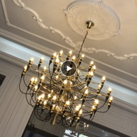 LuKLoy Luxury Modern Chandelier Nordic Living Room Loft Branch Light Lamps Lighting Pendant Fixture for Dining Room Bedroom