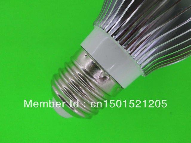 9W LED bulbs, dimming bubble bulb AC85 - 265V, E14 E27 B22 GU10, silver shell color, warm / cool white , 3 * 3W + Free shipping