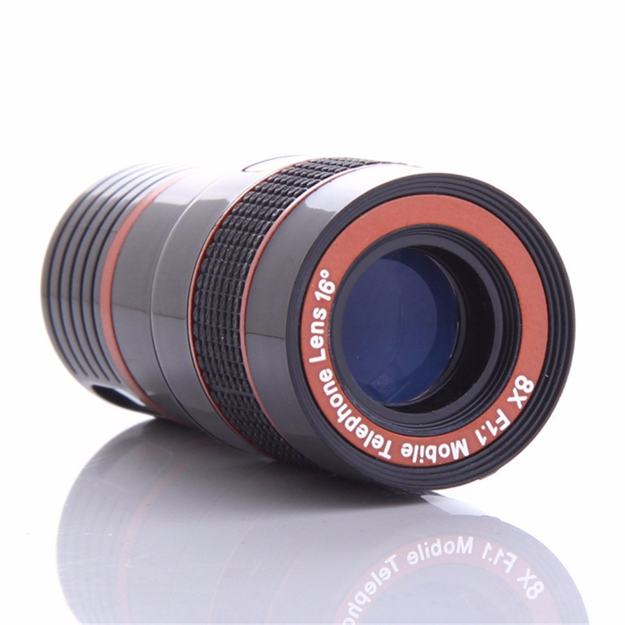 YIFUTE Lenses Universal Clip 8X Zoom Telephoto Lens HD Mobile Phone Camera Lenses For Apple iPhone 5 Samsung Xiaomi Redmi Huawei 7