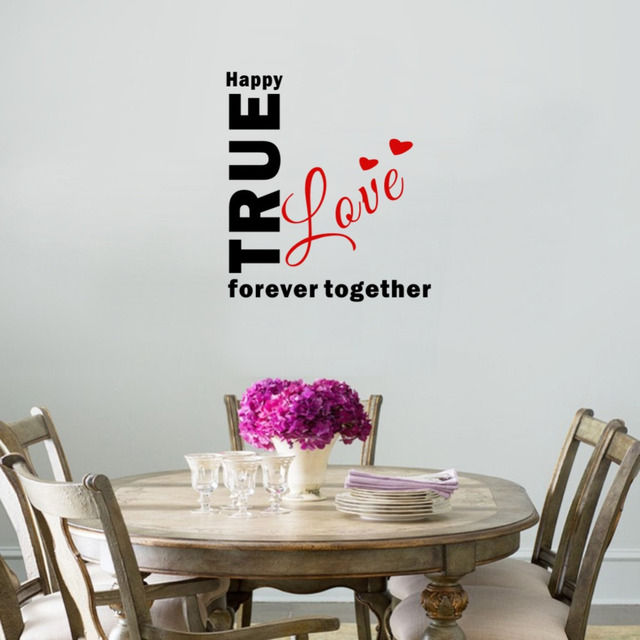 Beautiful Wall Stickers Home Decor A True Love Story Never Ends Decals