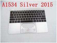 """Original IMIDO Topcase Space Silver  For Macbook 12"""" A1534 Top case with keyboard and backlight 2015"""