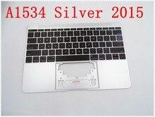"""Orijinal IMIDO Topcase Uzay Gümüş Macbook 12 Için """"A1534 ile Üst durumda klavye ve arka işık 2015"""