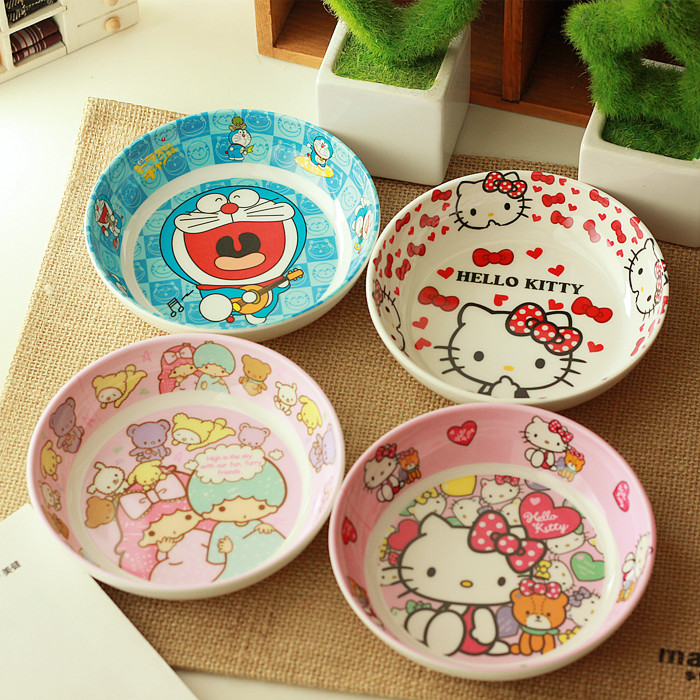 hello kitty cute appetizer small dish for wholesale nice gift and home use bowl for baby - Horderves Plates