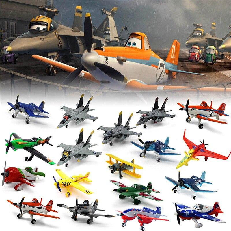 10-12 cm Pixar aviones 1:55 el rey Skipper Dusty Crophopper Ishani Shipboard aviones niños regalo Metal fundido Avión de juguete Suelto