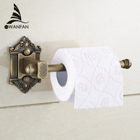 New Antique Brass Wall Mount Bathroom Lavatory Rolling Toilet Paper Holder Bathroom Accessories Toilet Roll Holder