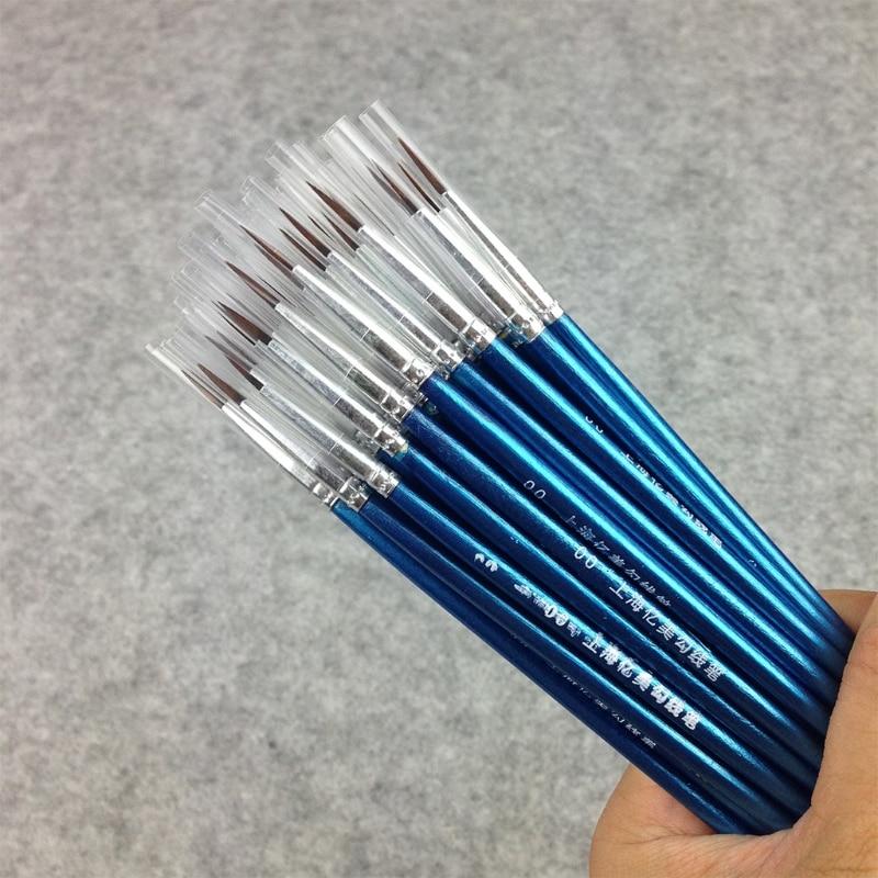 10Pcs/Set Multifunction Kids Student Gouache Painting Watercolor  Pen Nylon Hair Wooden Handle Paint Brush Drawing Art Supplies