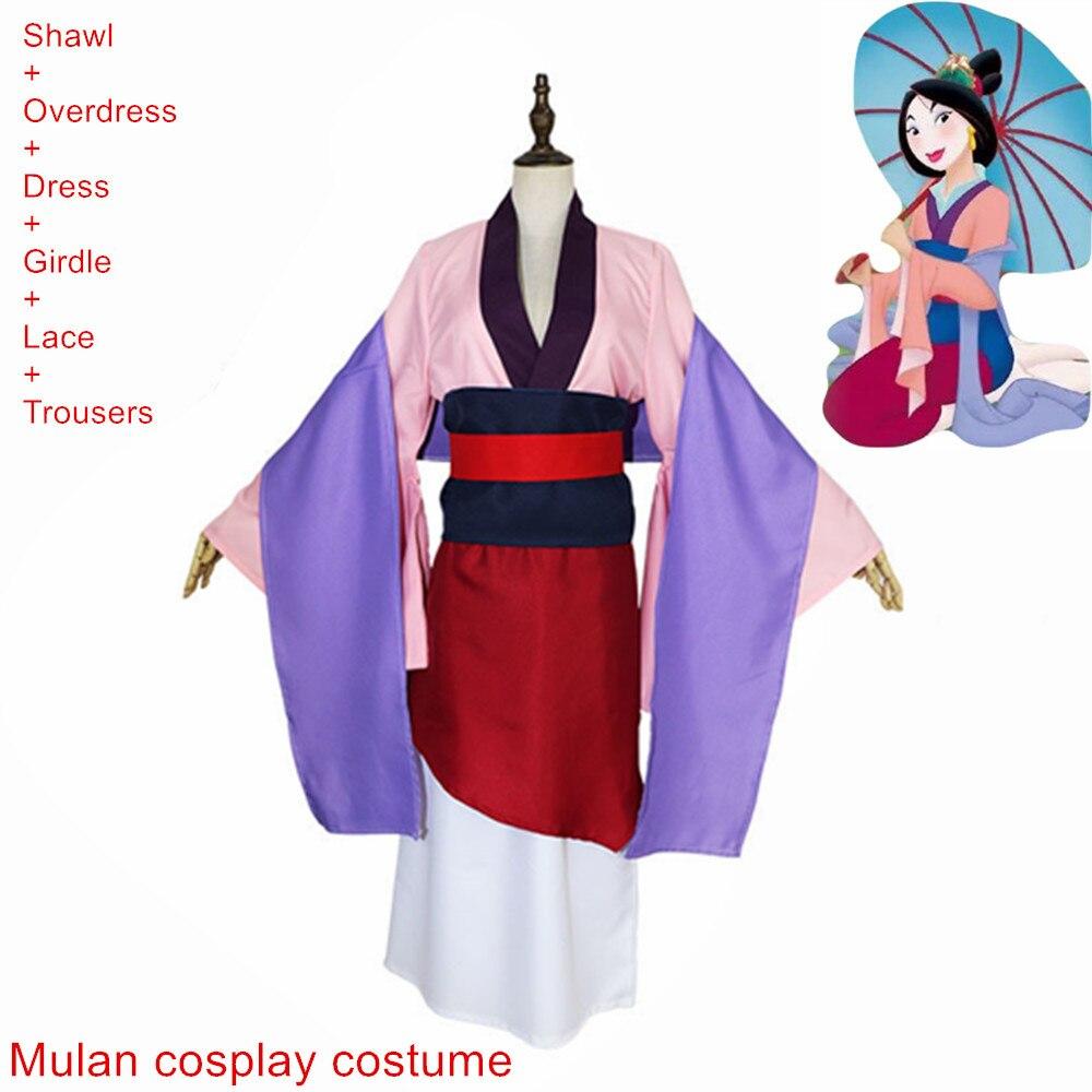 Костюм Wreck It Ральф 2 принцесса Мулан платья фильм Ральф ломает интернет Мулан мушу Дракон косплей девушки и женщины юбка