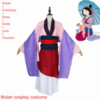 Wreck It Ralph 2 Costume Princess Mulan Dresses Movie Ralph Breaks The Internet Mulan Mushu Dragon Cosplay Girls and women Skirt