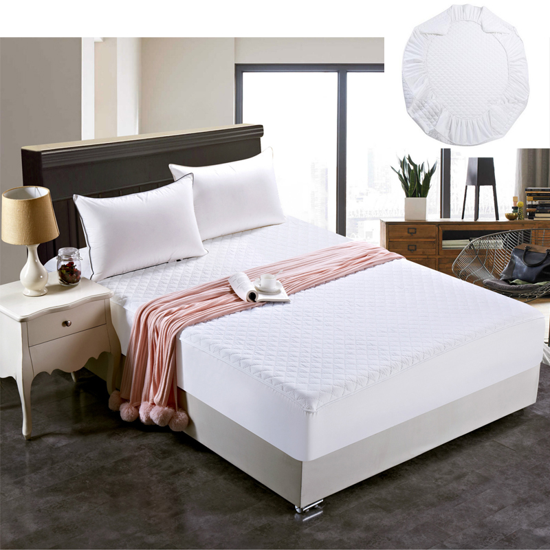 eco friendly cotton padded mattress cover antibacterial twin full queen king size bed cover for. Black Bedroom Furniture Sets. Home Design Ideas