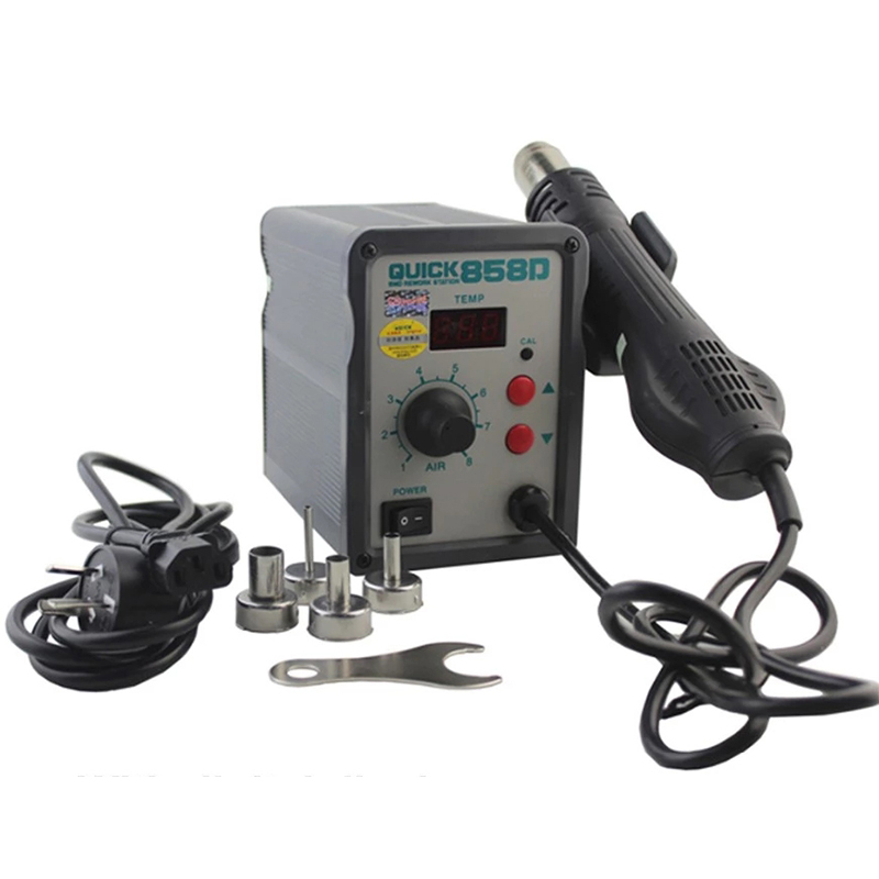 Original QUICK 858D Hot Air Soldering Station Digital Display Hot Air Blower Desoldering Station for BGA Welding RepairOriginal QUICK 858D Hot Air Soldering Station Digital Display Hot Air Blower Desoldering Station for BGA Welding Repair