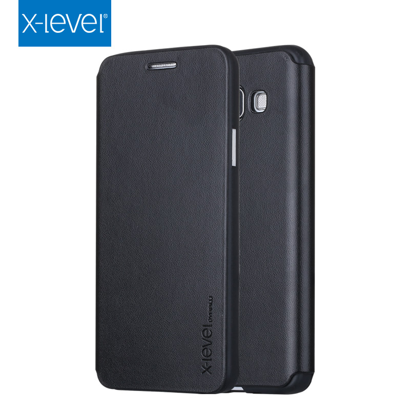 detailed look 25234 f14b1 US $9.19 8% OFF X Level Leather Flip Case Cover for Samsung Galaxy A3 A5 A7  A6 A8 J3 J4 J6 J8 2018 2017 2016 A510 A310 A710 Plus Bussiness Case-in ...