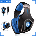 SADES A60 USB Virtual 7.1 Gaming Headset Wired Headphones Deep Bass Vibration Casque Headphone with Microphone for Gamer