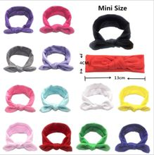 2019 Newest Style Baby Girls Princess Headdress Elastic Solid Color Boys Kids Baby Hair Band Solid Cloth Bowknot Bow 3M-12Y(China)