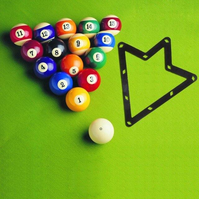 6pcs/pack 9 Ball / 10 Ball Billiard Triangle Cue Rack Ball Magic Rack Sheet