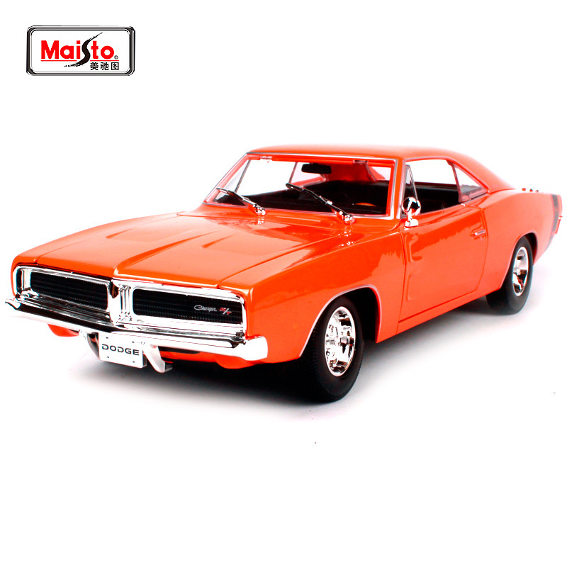 Maisto 1:18 1969 DODGE Charger R/T Muscle Old Car model Diecast Model Car Toy New In Box Free Shipping NEW ARRIVAL 31387 maisto bburago 1 18 1959 jaguar mark 2 ii diecast model car toy new in box free shipping