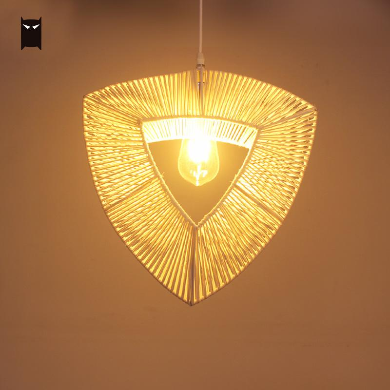 Wicker Rattan Heart Shade Pendant Light Fixture Rustic Hanging Ceiling Lamp for Baby Kids Bedroom Nursery E27 E26 Bulb 110V 220V chinese style rustic lantern bamboo rattan knitted classical led pendant light bedroom e26 e27 7w bulb 96 240v decorative lamp