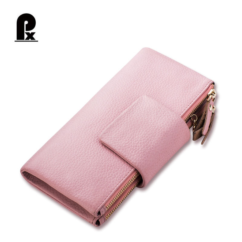 PACENTO Genuine Leather Brand Wallet Women Wallets Female Clutch Coin Pocket Women's Purses Soft Cute Carteira Cuzdan Monedero vintage marilyn monroe purses sheep print women wallets brand female cartoon wallet carteira feminina clutch