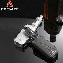 Original Rofvape A Box Mini Full Kit Electronic Cigarette Kit mini 50W mod with OLED Indicator battery Mod Vape vapor vaporizer