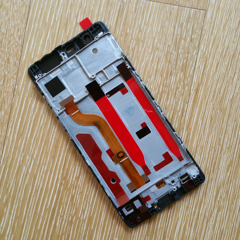 For Huawei P9 LCD Display Touch Screen Digitizer Assembly With Frame Original EVA-AL00 For Huawei P9 LCD Replacement Parts replacement original touch screen lcd display assembly framefor huawei ascend p7 freeshipping