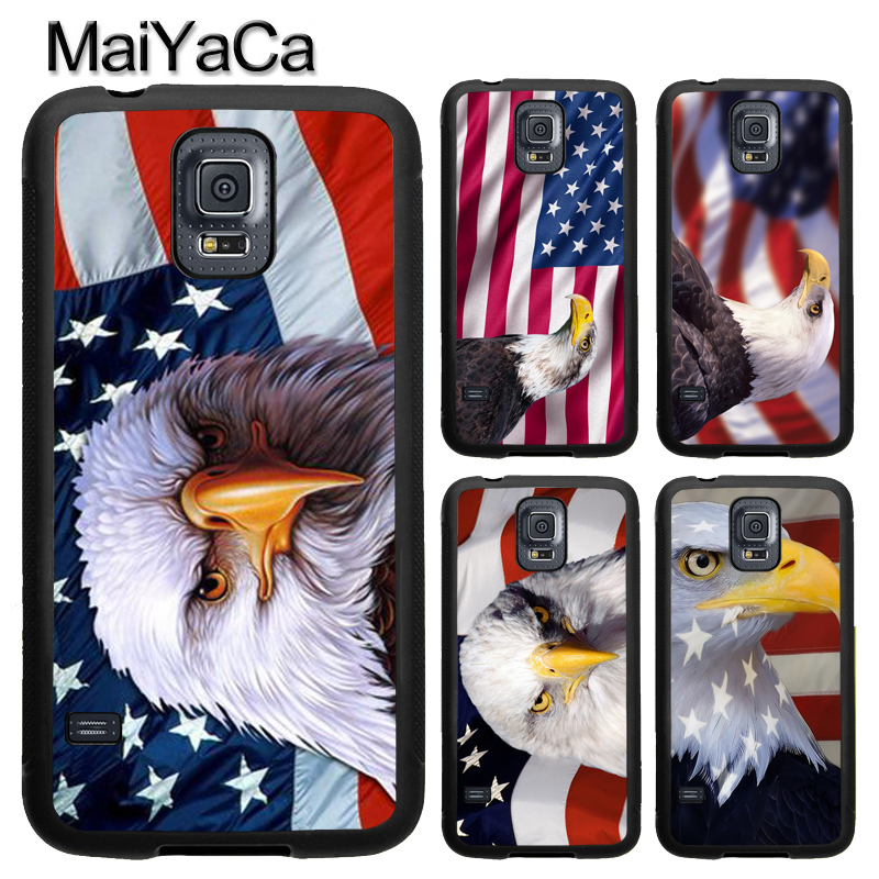 MaiYaCa American Bald Eagle Flag Phone Case For Samsung Galaxy S9 S8 Plus S4 S5 S6 S7 edge Note 8 5 4 TPU Cover Skin Shell