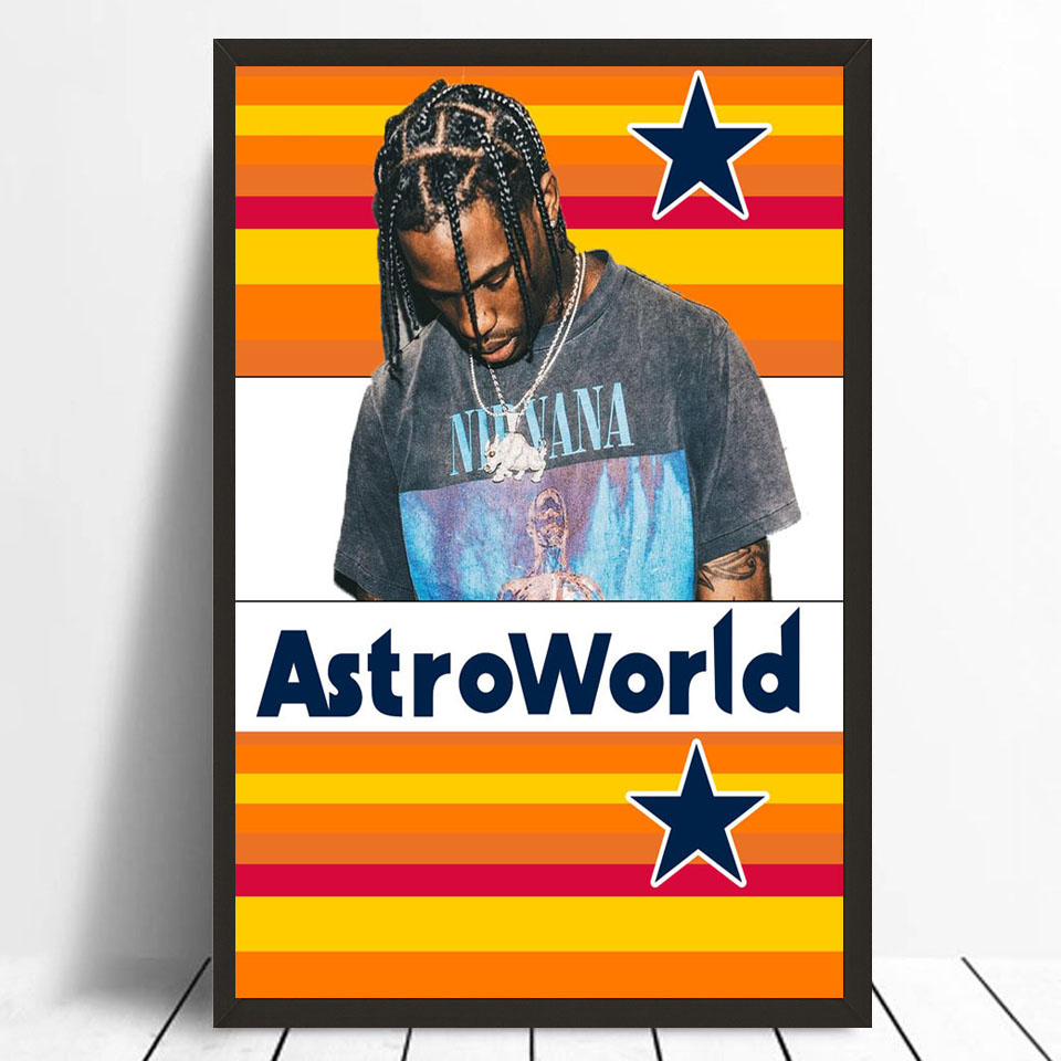 TX094 Travis Scott Astroworld 2018 Rap Hip Hop Music Album Cover 24x24