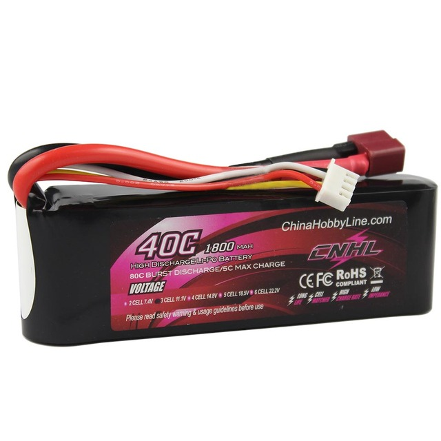 CNHL LI-PO 1800mAh 11.1V 40C(Max 80C) 3S Lipo Battery Pack for RC Hobby free shipping