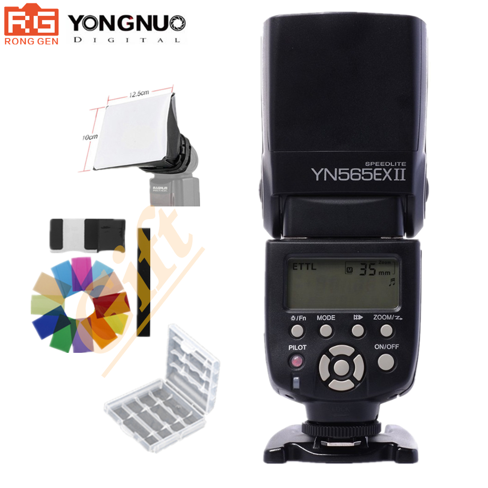 цена на Yongnuo YN-565EX II YN 565EX II Wireless Flash Speedlite For Canon 6D 7D 70D 60D 600D XSi XTi T1i T2i T3