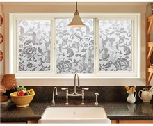Frosted UV Static Cling 60cm X 300cm Living Room Decorative Privacy  Decorative Sliding Glass Door Window Film