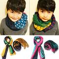 2014 Hot sales children Tri-color dot scarves autumn / winter boys and girls scarf kids fashion cotton scarves Retail/wholesale