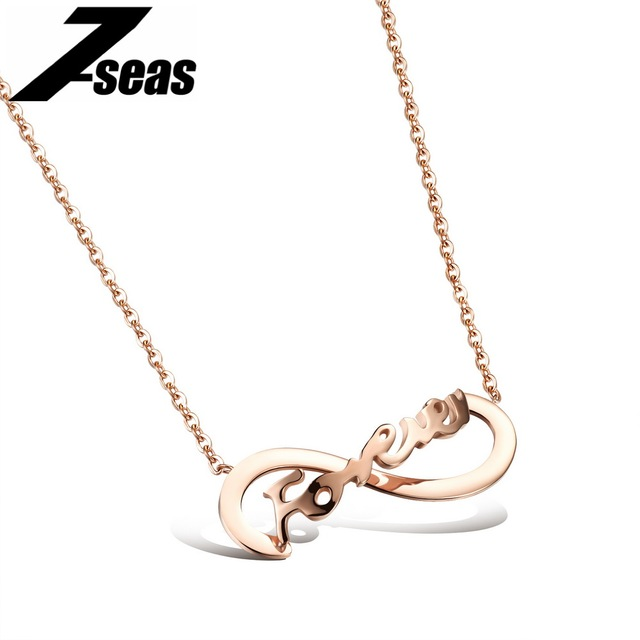 Romantic forever promise pendant necklace for lovers luxury rose romantic forever promise pendant necklace for lovers luxury rose gold color 316l stainless steel aloadofball Choice Image