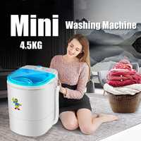 225W 9.9 lb Clothes Portable Mini Washing Machine Spin Compact Washer Low Noise for Home Dorm machine single barrel washer