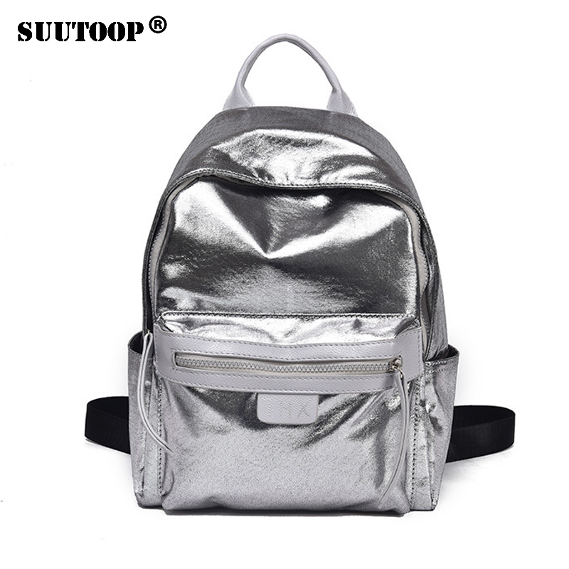 2019 New Hologram Sweet Silver Laser Backpack Holographic Bag Girls Mochila Feminino School Leather Small Backpack Preppy Style
