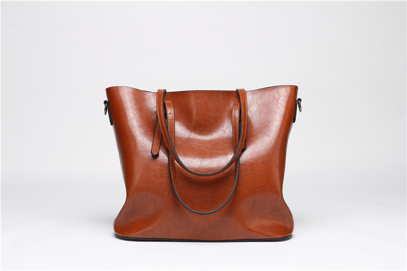 DIDA BEAR Brand Women Leather Handbags Lady Large Tote Bag Female Pu Shoulder Bags Bolsas Femininas Sac A Main Brown Black Red 10