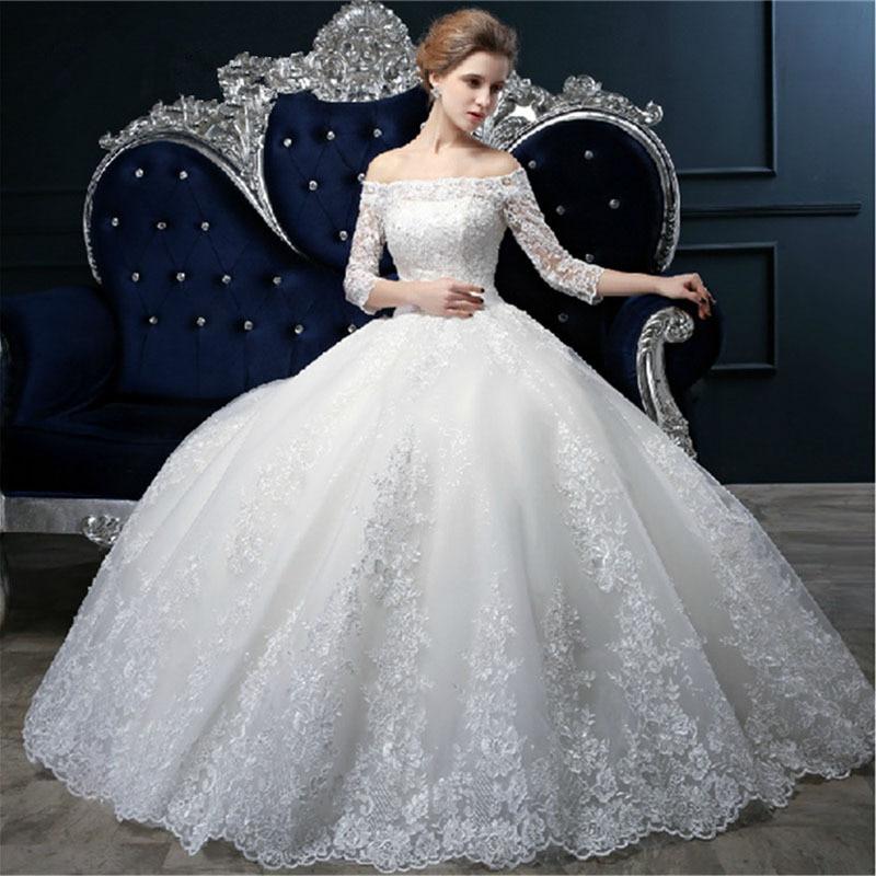 2015 New Elegant A Line Lace Wedding Dress Plus Size