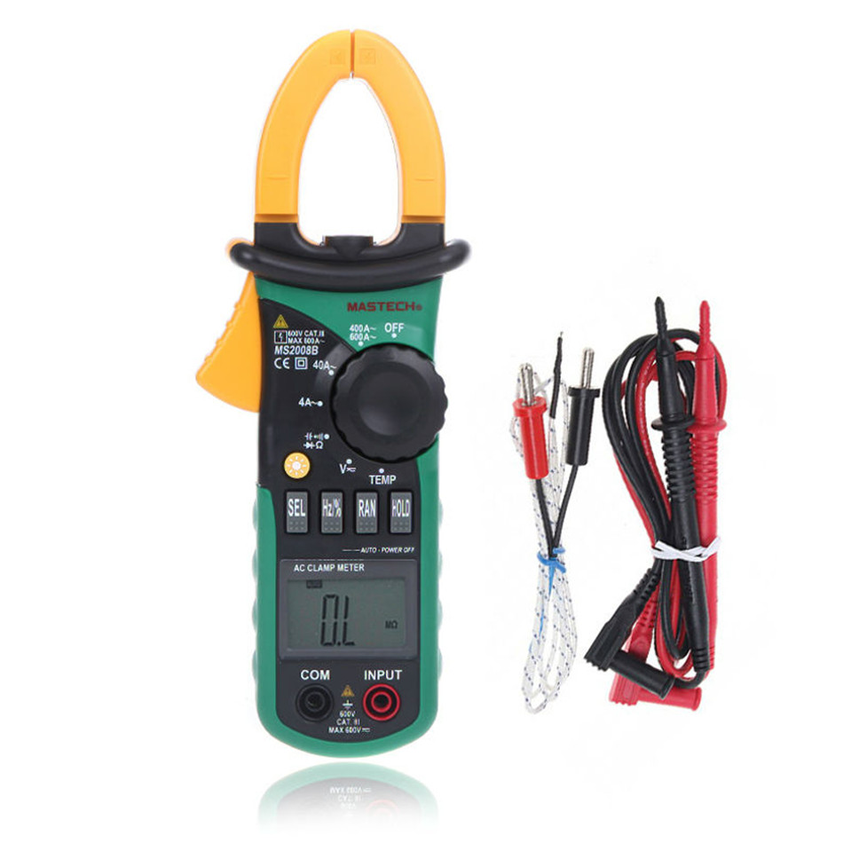 2017High Quality Original MASTECH MS2008B AC/DC Digital Multimeter Electric Auto Range Current Clamp Meter Ammeter Free Shipping