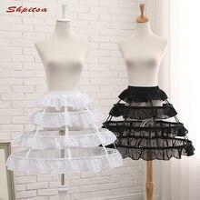 Negro o blanco 3 aro corto enaguas boda Lolita Rockabilly chica suave mujer  crinolina enagua Pettycoat falda 9a4fdb970f69