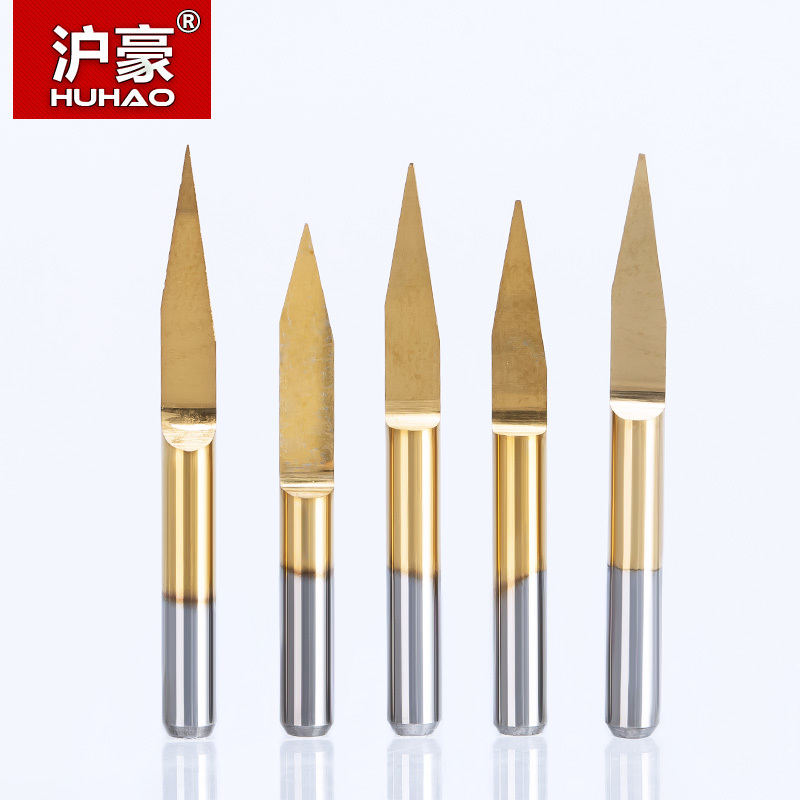 цена на HUHAO 10pcs/lot Shank 3.175mm Engraving Bits CNC Degree 10-90 End Mill Carbide Milling Cutter Titanium Coating CNC Router Tools