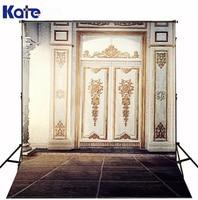 Kate Digital Background Indoor Gate Photography Backdrops Brick Floor For Wedding Photo Studio Background
