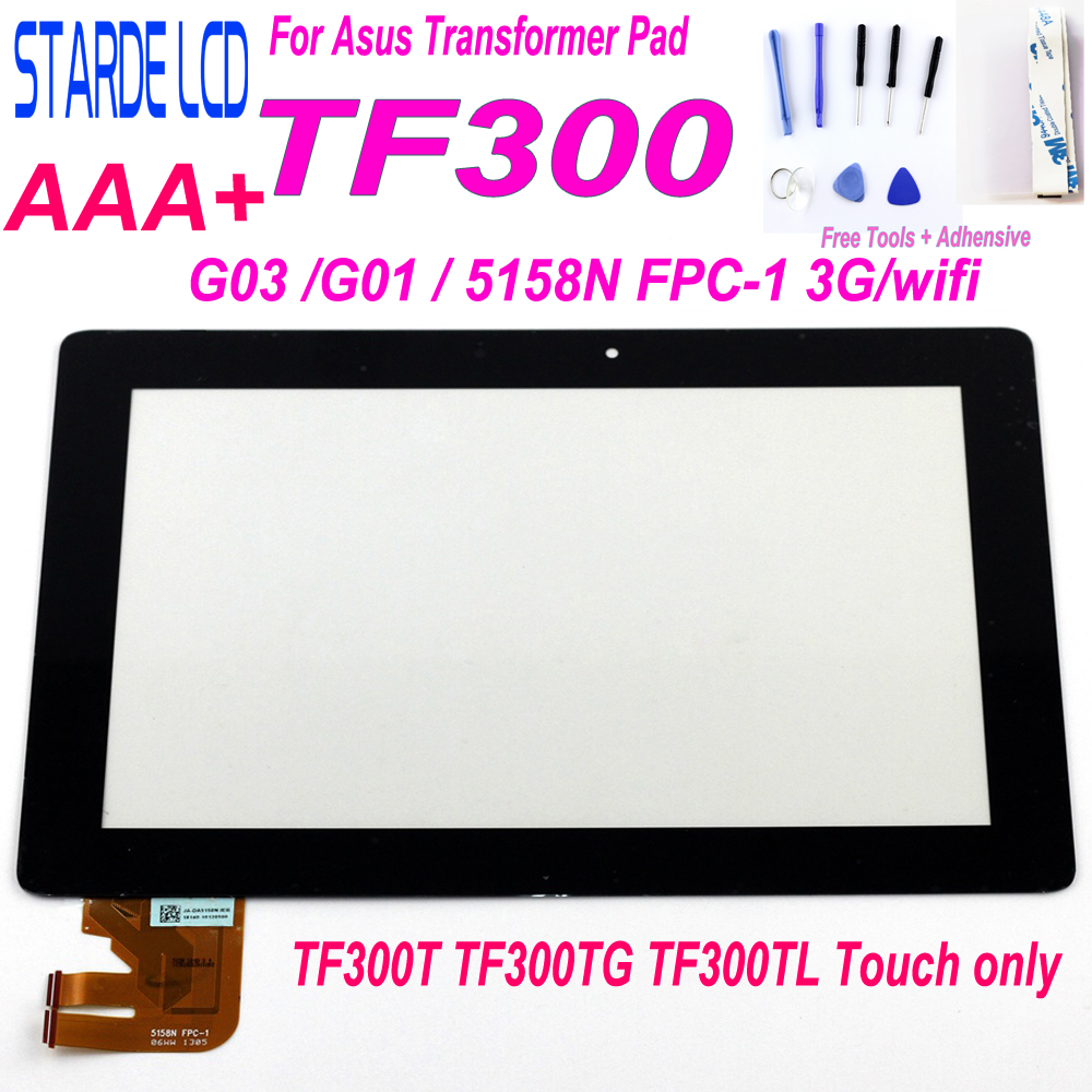 For Asus Transformer Pad TF300 TF300T TF300TG TF300TL G03 G01 5158N FPC-1 Touch Screen Panel Digitizer Glass Sensor