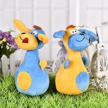 Lovely Big Ears Dog Bowling Pin Shape Toy Plush Toys Safety Vocal Toy Pet Cat And Dog Fun Pet Supplies(China)