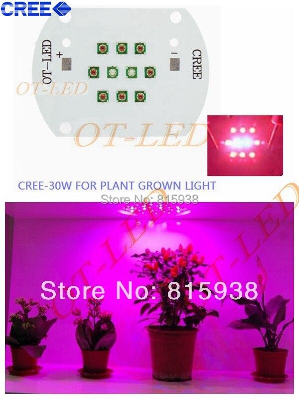 30W Cree XPE XP-E Led Emitter Bulb Red(8PCS)+ Blue(2PCS) Mix Color Multichip Plant Grow Light DIY Emitter 24-26V 350mA~1000MA cree xpe xp e 50leds 5 channel rgbw led emitter white 6000k warm white 3000k green 520nm red 620nm blue 470nm plant grow light