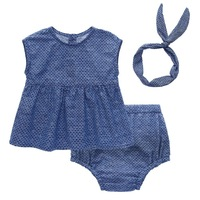 Summer Newborn Baby Girls Clothing Set Outfits Clothes Cotton Tops Cotton Shorts Headband 3PCS Cute Baby