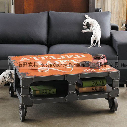 American Industrial Coffee Table Coffee Table Garden Furniture, Rustic  Furniture Loft Furniture Trade Furniture