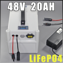 48V 20Ah LiFePO4 Protable battery , 1000W Electric Bicycle Battery + BMS Charger 48v lithium scooter electric bike battery pack недорго, оригинальная цена