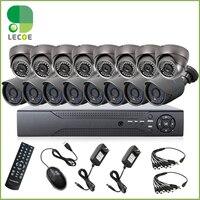 Home 1200TVL 16CH CCTV Security Camera System 16CH DVR with 16pcs 720P Outdoor Day Night Cameras CCTV Surveillance DVR System