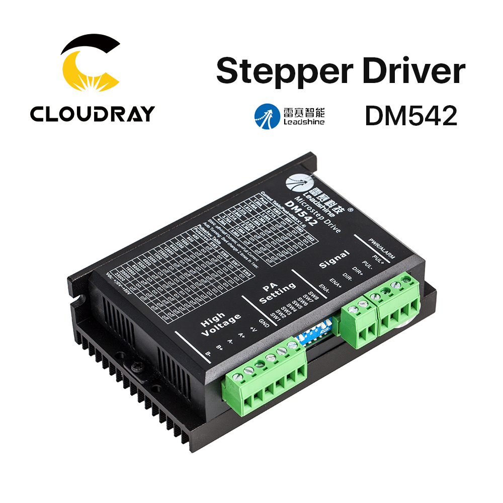 Cloudray Leadshine 2 Phase <font><b>Stepper</b></font> <font><b>Driver</b></font> <font><b>DM542</b></font> 20-50VAC 1.0-4.2A image