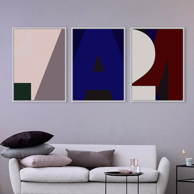 Modern Abstract Minimalist Letter Typography A4 Large Poster Prints Nordic Living Room Canvas Painting Wall Art