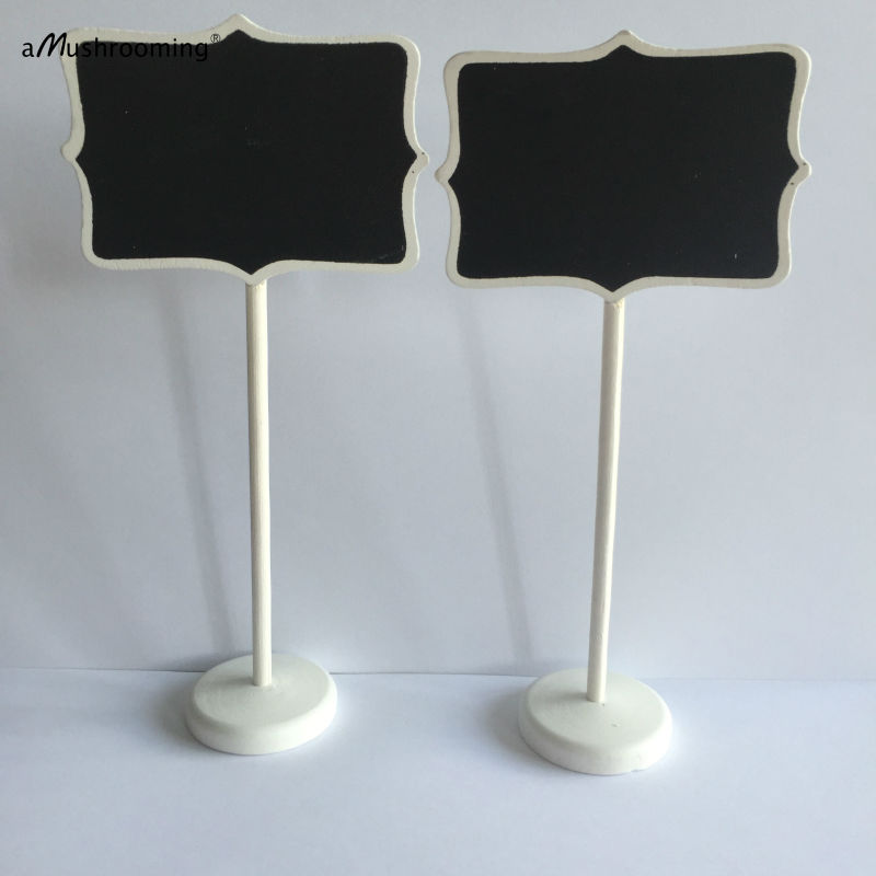 30x Wood White Framed Scroll Small Blackboard Chalkboard Stand ...