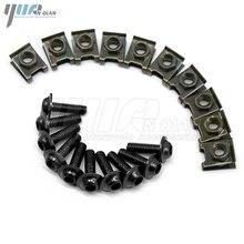 10PCS 6mm รถจักรยานยนต์ CNC Body Work fairing สลักเกลียว screwse สำหรับ HONDA CBR600 F2 F3 F4 f4i CBR1000RR CBR 1000 RR 1000RR CBR1000